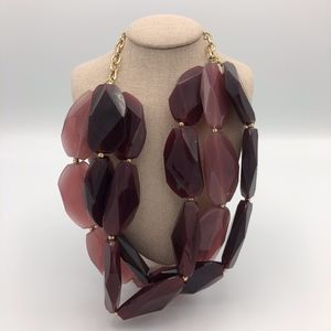 Francesca's Purple Statement Necklace